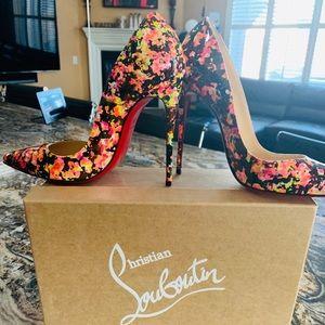 So Kate patent granite multi color heels